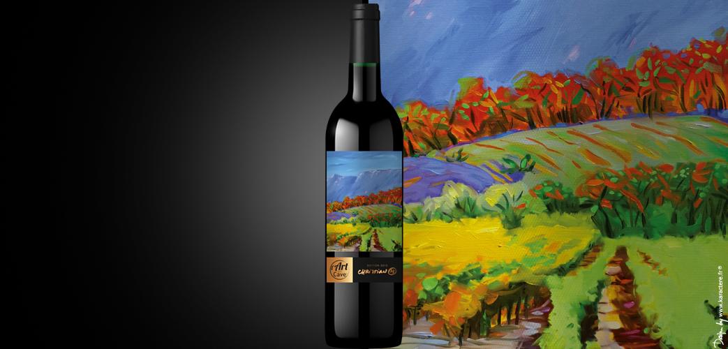 bouteille de vin en édition limitée
