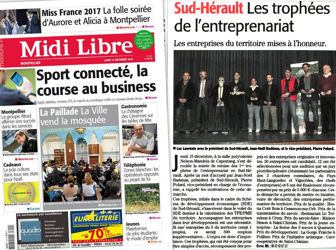 Midi Libre - Trophées de l'entreprenariat