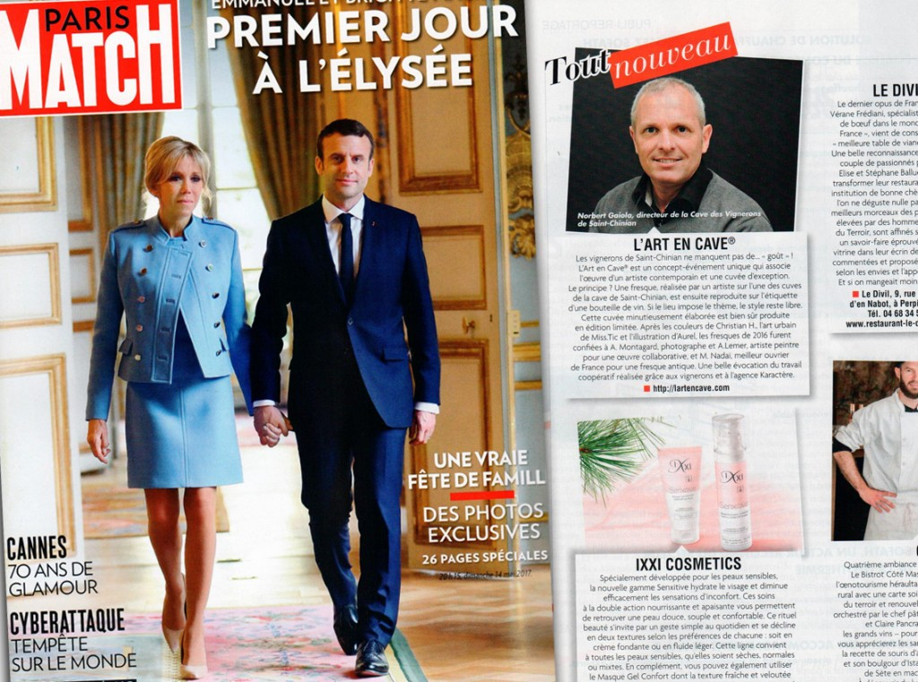 Paris Match - Parution L'Art en Cave