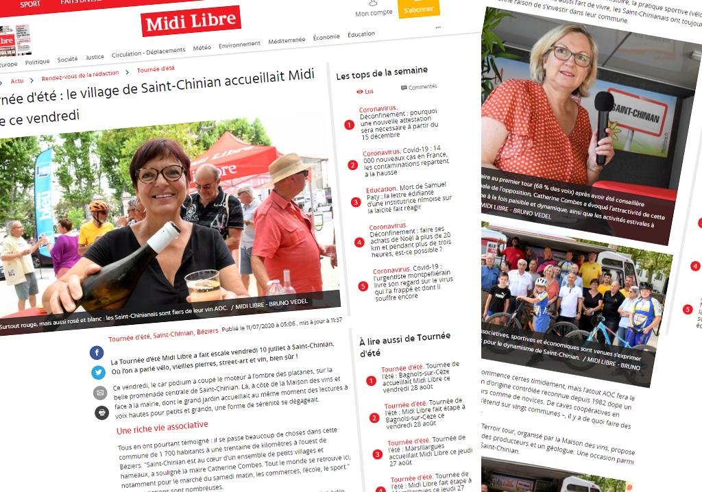 Tournée d'été : le village de Saint-Chinian accueillait Midi Libre ce vendredi